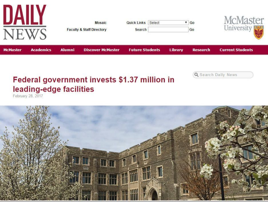 McMaster Daily News Article Feb 2017