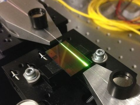 Laser integrated on a silicon chip